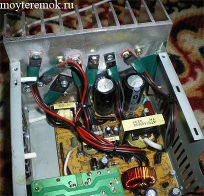 компоненты на радиаторе