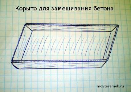 самодельное корыто для изготовления бетона