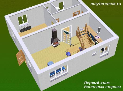 проект в 3D восточная сторона
