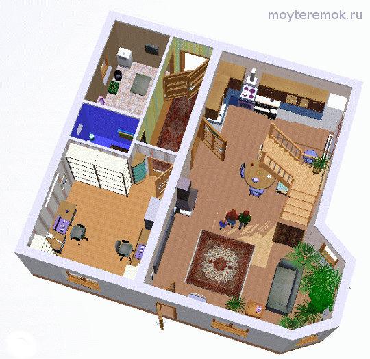 Вид на первый этаж