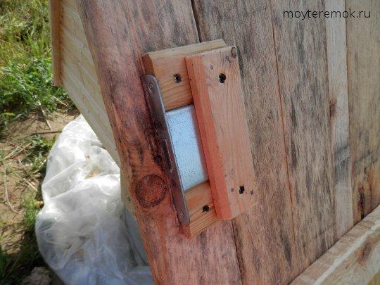 крепление замка на дверь