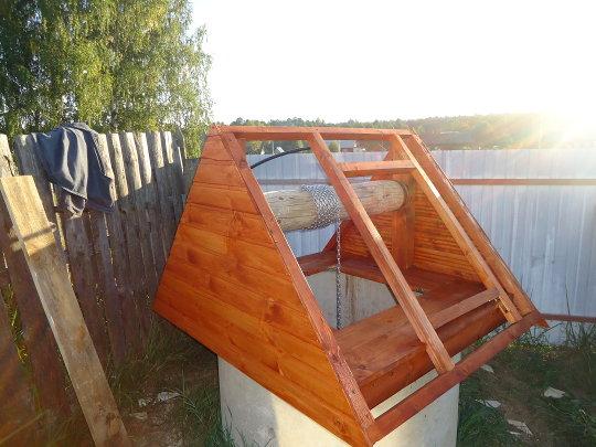 самодельный домик для колодца
