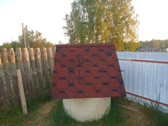 покрытие домика для колодца