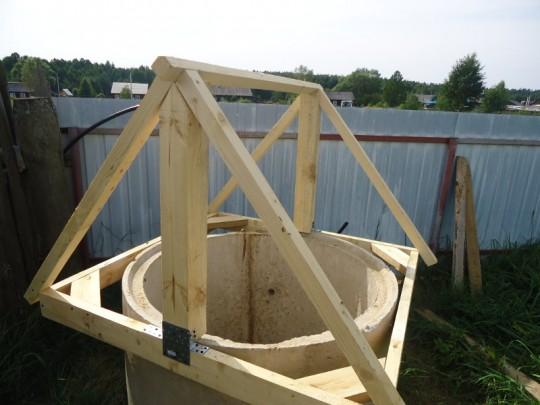 Размер домик для колодца