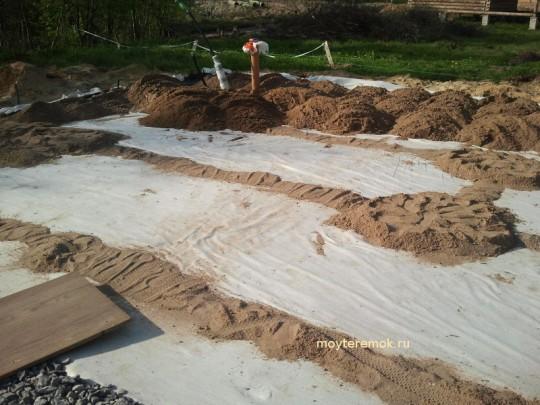 песчаная подушка своими руками