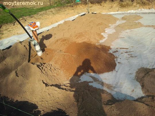 подушка под плиту фундамента