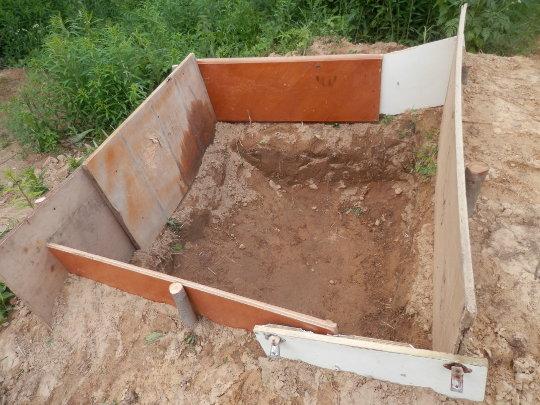 яма для бетона