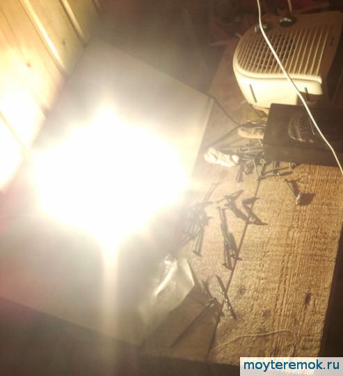 самодельный прожектор