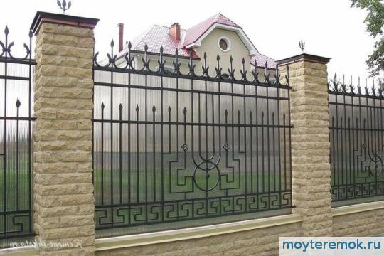 кованый забор поликарбонат