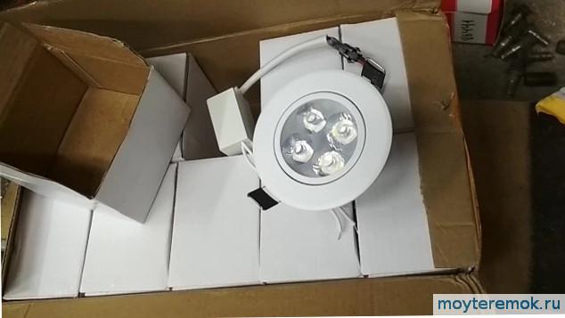 светодиодный светильник 12w встраиваемый