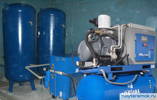поршневой компрессор на производстве