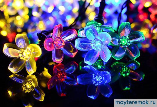 Светодиодная гирлянда цветки САКУРЫ