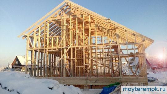 зимнее строительство каркасного дома
